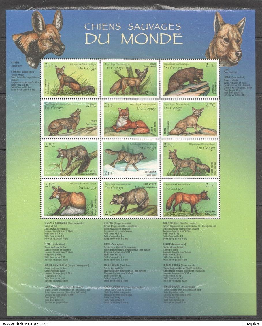 PK178 CONGO FAUNA ANIMALS WILD DOGS SAUVAGES 1SH MNH - Cani