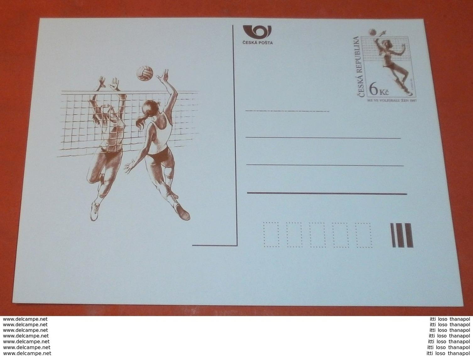 TSCHECHISCHE REPUBLIK - Volleyball Sport --- Volleyball 6 Kc Bildpostkarte ** (Foto)(60487) - Postales