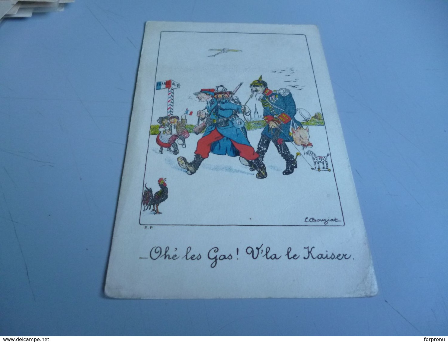 Carte Postale GUERRE 14/18  SOLDAT FRANCAIS AYANT FAIT PRISONNIER LA KAISER ET L'AMENANT EN FRANCE - 1914-18