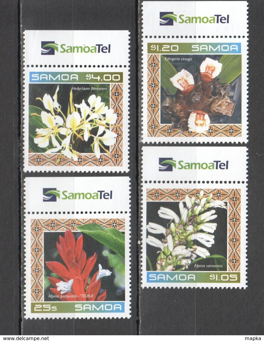 XX372 ONLY ONE IN STOCK SAMOA NATURE FLORA PLANTS FLOWERS ORCHIDS #963-66 SET MNH - Altri