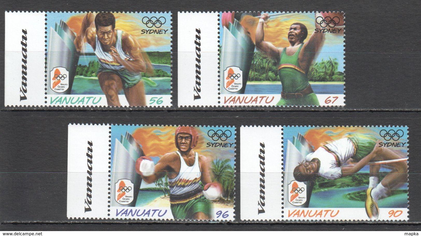H277 VANUATU SPORT OLYMPIC GAMES SYDNEY 2000 #1121-4 1SET MNH - Estate 2000: Sydney