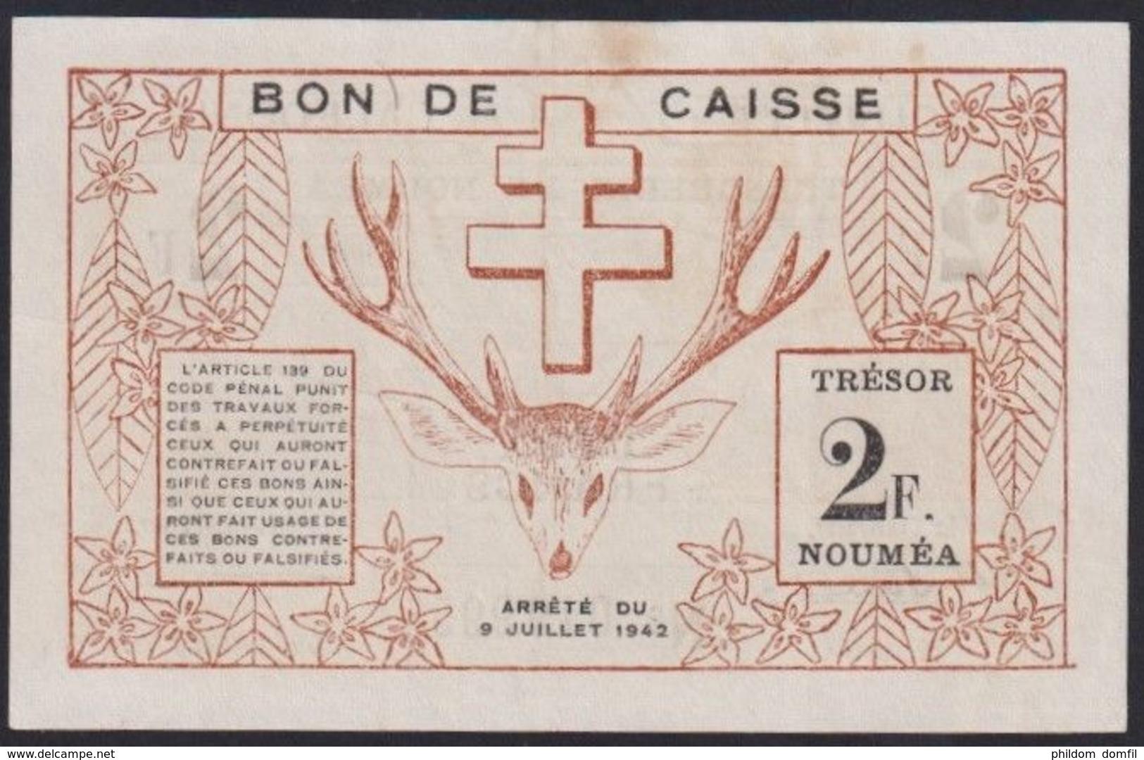 Ref. 2373-2796 - BIN NEW CALEDONIA . 2020. NEW CALEDONIA 2 FRANCS 1942 - Nouméa (Neukaledonien 1873-1985)