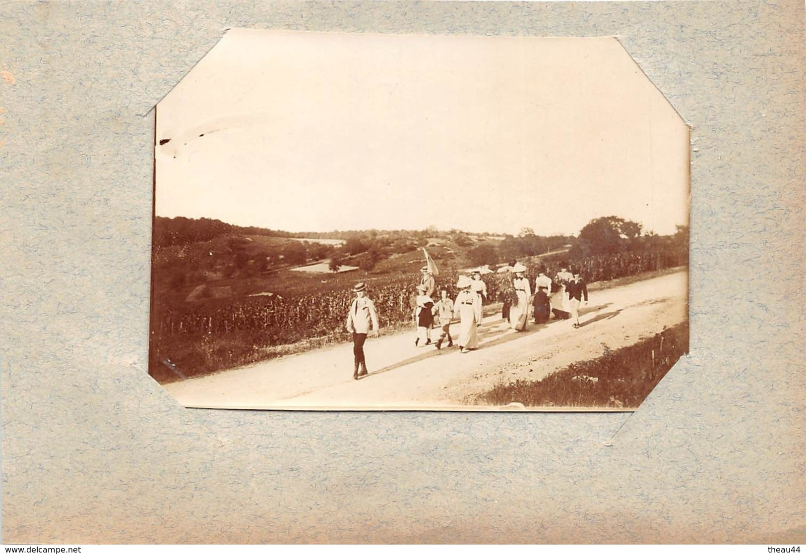 ¤¤   -  JAULNY   -   Cliché Albuminé Vers 1900  -   Balade En Famille   -  Voir Description   -  ¤¤ - Autres Communes