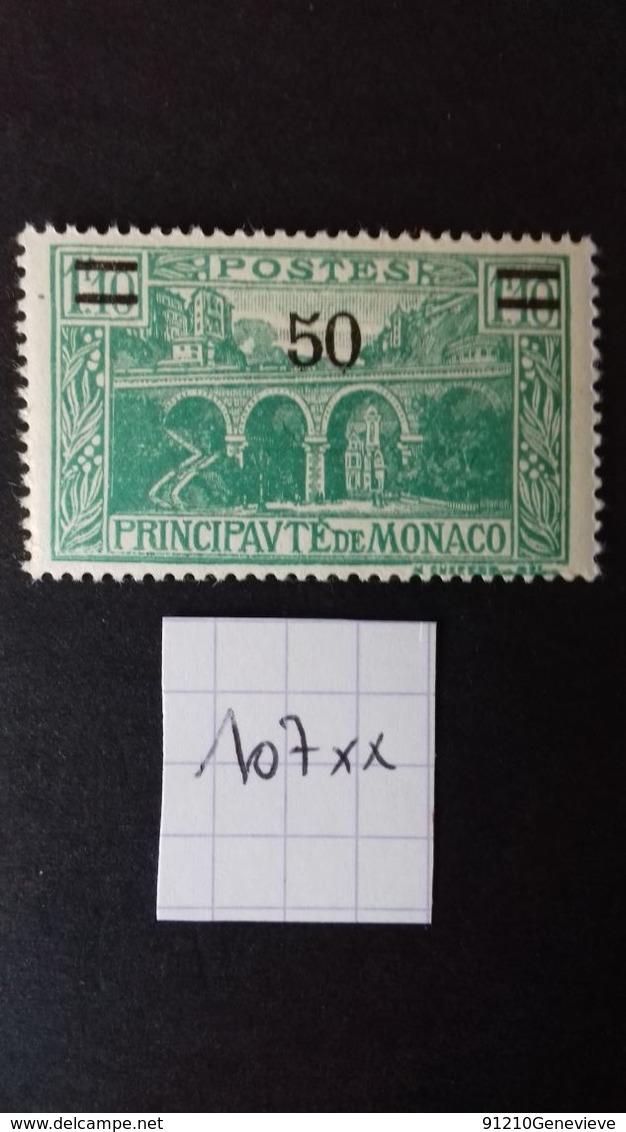 MONACO N°107 ** - Neufs