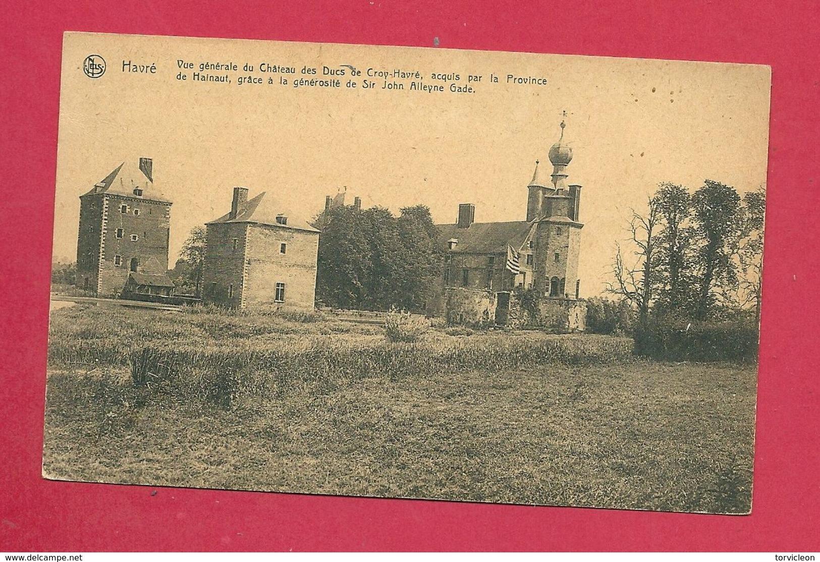 C.P. Havré =  Vue Générale Du Château  Des Ducs De Croy-Havré - Mons