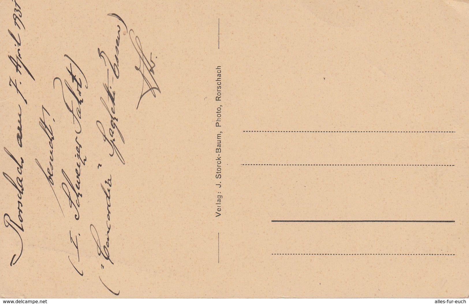 CP 1931 - Rorschach, St. Gallen, Schweiz - Restaurant, Weinhandlung Konkordia, Gaststättenkarte - SG St. Gallen