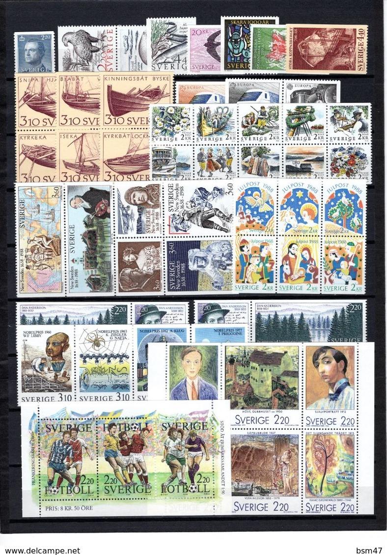 Zweden: 1988 - Jaargang Compleet Postfris / Year Complete MNH - Volledig Jaar
