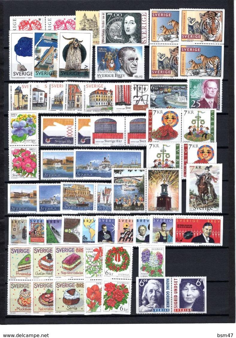 Zweden: 1998 - Jaargang Compleet Postfris / Year Complete MNH - Volledig Jaar