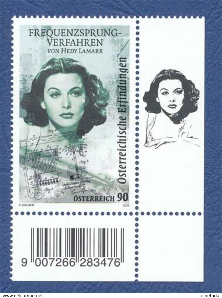 AUTRICHE Hedy Lamarr. Frequency Hopping Spread Spectrum Neuf**.  Cinéma, Film, Movie. - Cinema