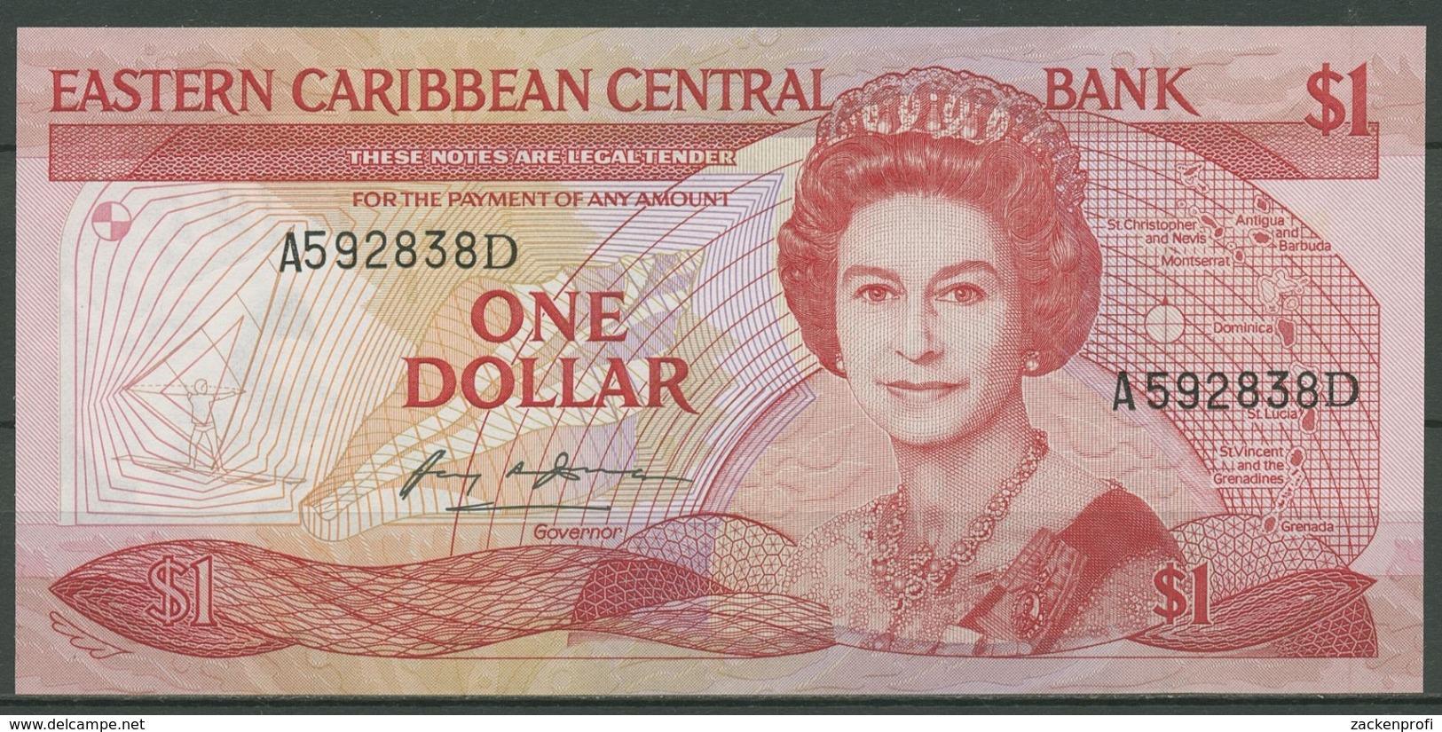 Ostkaribische Staaten 1 Dollar (1985-87) Suffix D, KM 17 D Kassenfrisch (K430) - Oostelijke Caraïben