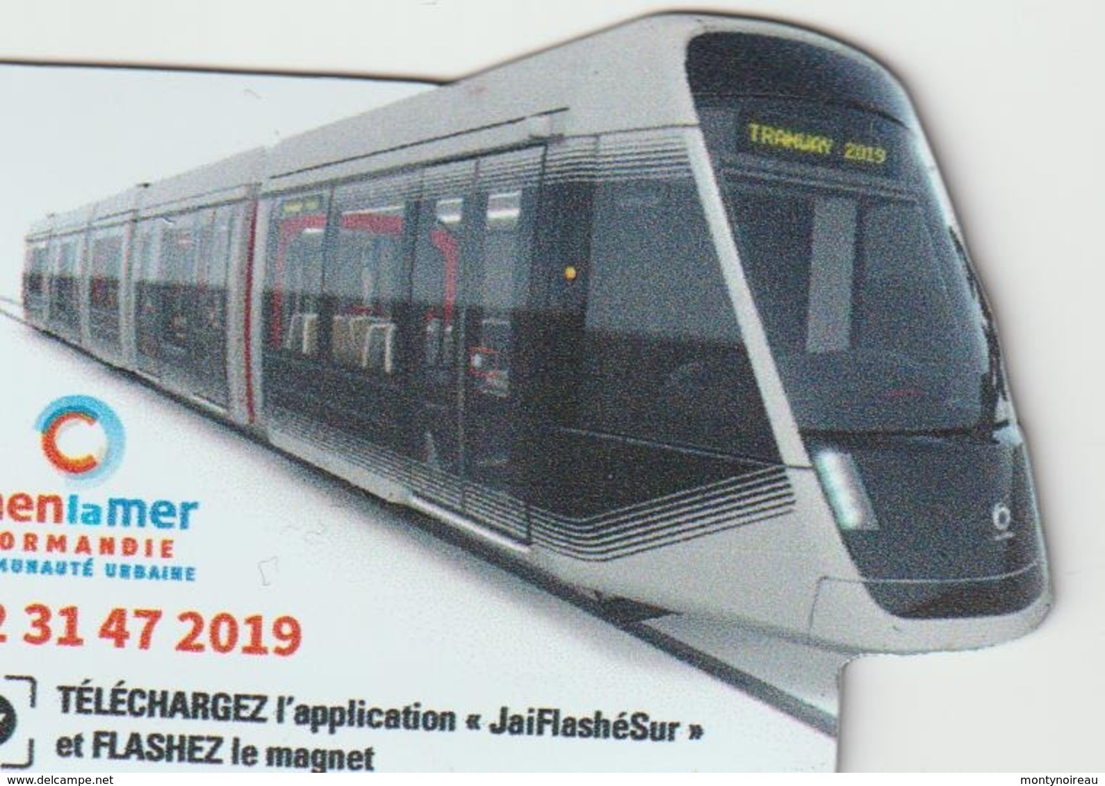 Magnet  :  Caen  Tramway  - Train - Magnets