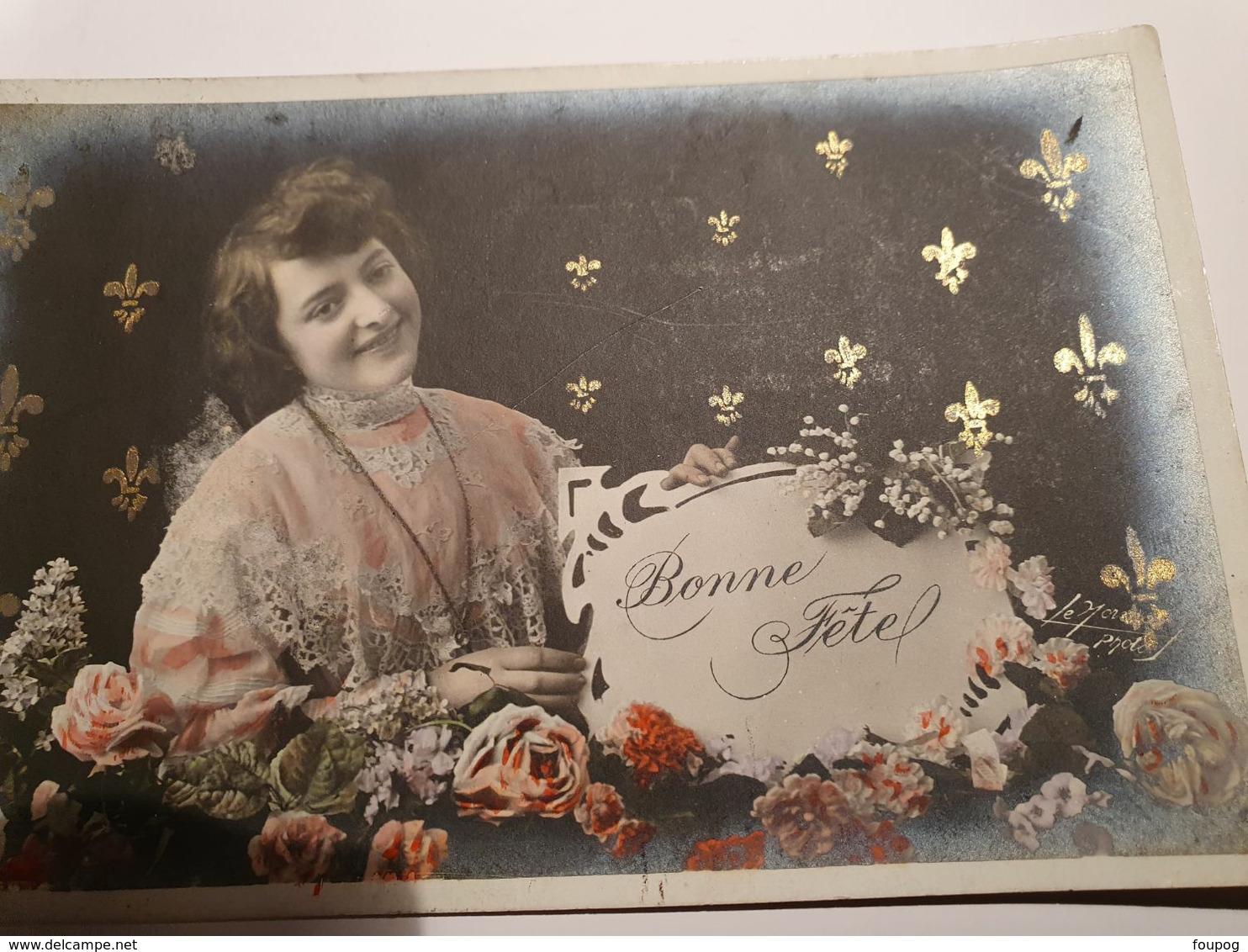 CPA LOT DE 50 CARTES BONNE FETE   HOMMES FEMMES COUPLES FLEURS PRIX EXCEPTIONNEL DESTOCKAGE LOT 12 - 5 - 99 Postales