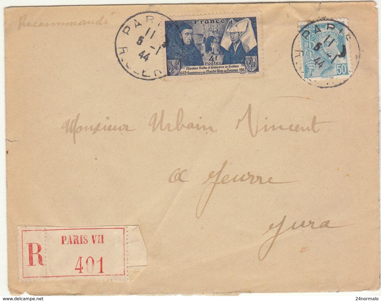 ESC Recommandée 4F50  O. Paris VII R. Clery 1944 - 1921-1960: Modern Period