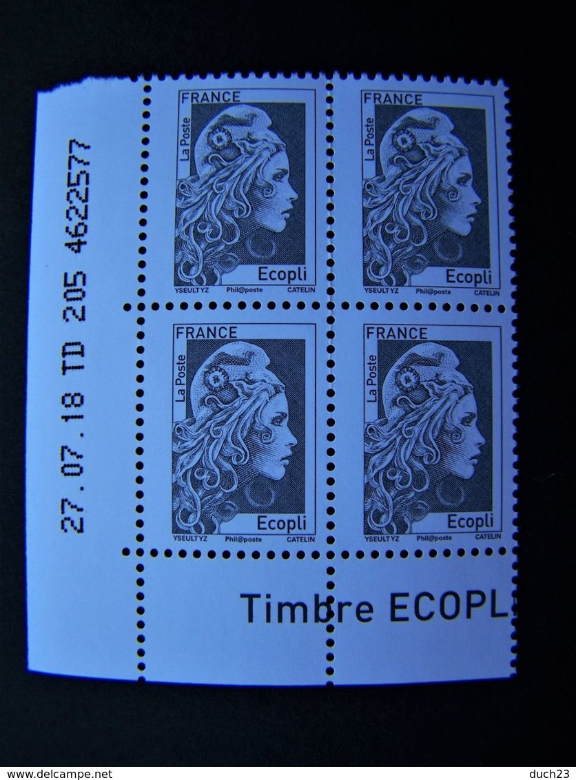 MARIANNE** 2018 N° 5251 LETTRE ECOPLI GOMMEE L'ENGAGEE D'YSEULT YZ COIN DATE DU 27.07.18 - 2010-....