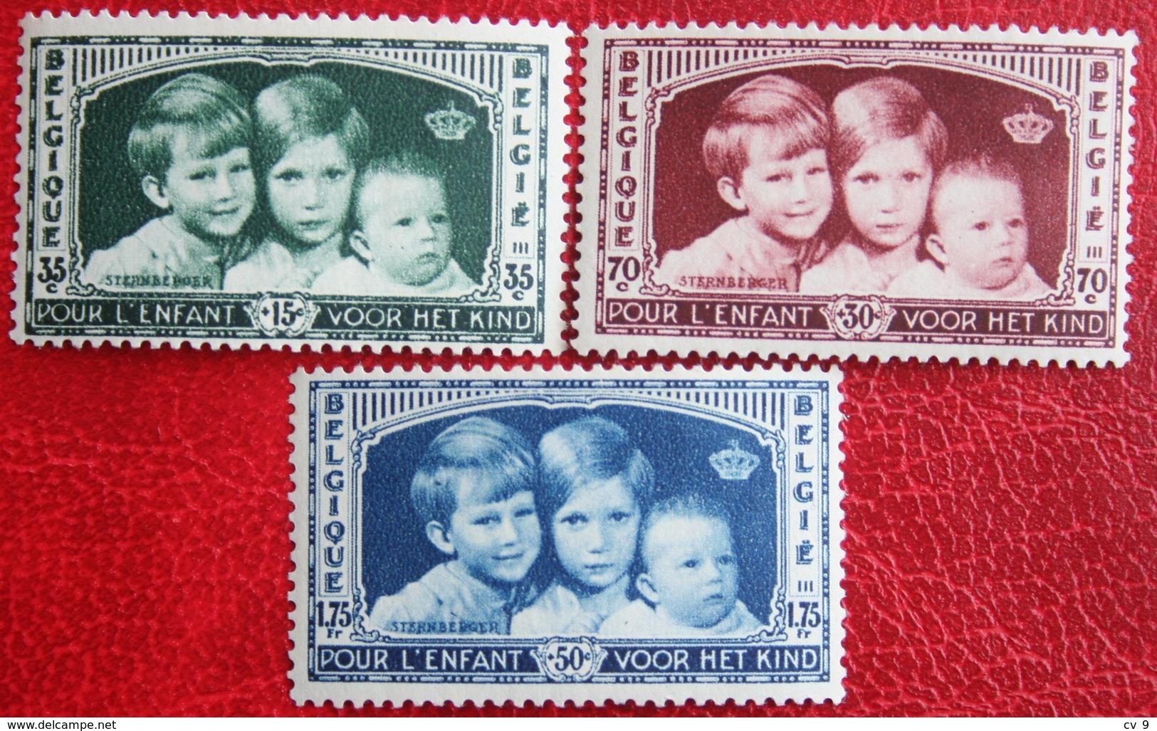 KoningsKinderen Child Welfare Complete Set 1935 OBP 404-406 (Mi 396-398) POSTFRIS/ MNH **BELGIE BELGIUM - Ongebruikt