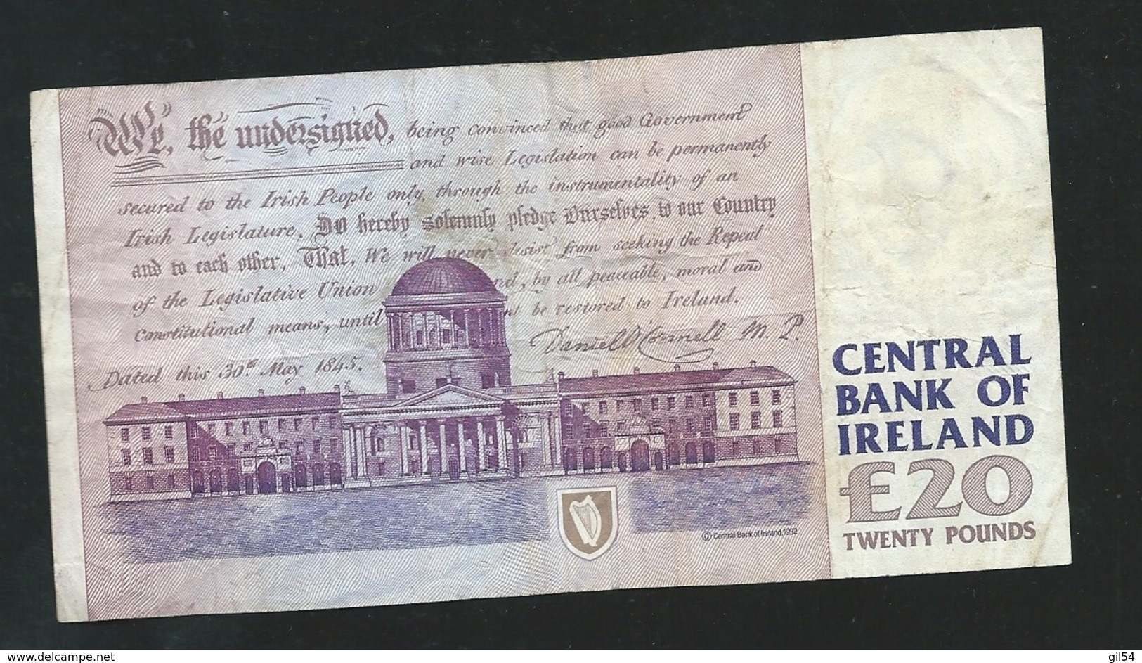 Irlande - IRELAND 20 Pounds  21/09/92   KFI 644360  LAURA 5201 - Ireland
