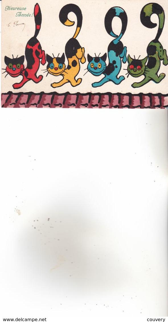 CPA CHAT, 1 Carte : M.M.VIENNE N°366.( 1908) - Katzen