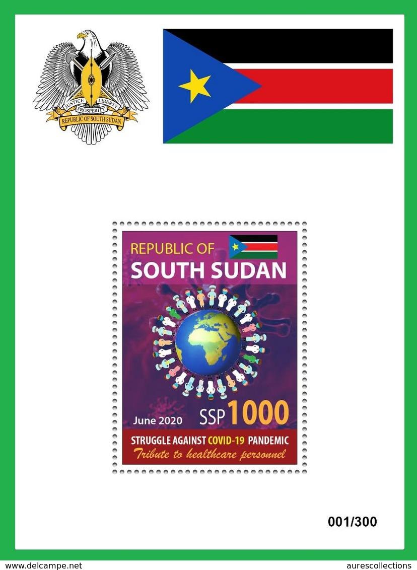 SOUTH SUDAN 2020 - SOUVENIR SHEET BLOC BF - JOINT ISSUE - COVID-19 PANDEMIC PANDEMIE CORONA CORONAVIRUS RARE MNH - Gemeinschaftsausgaben