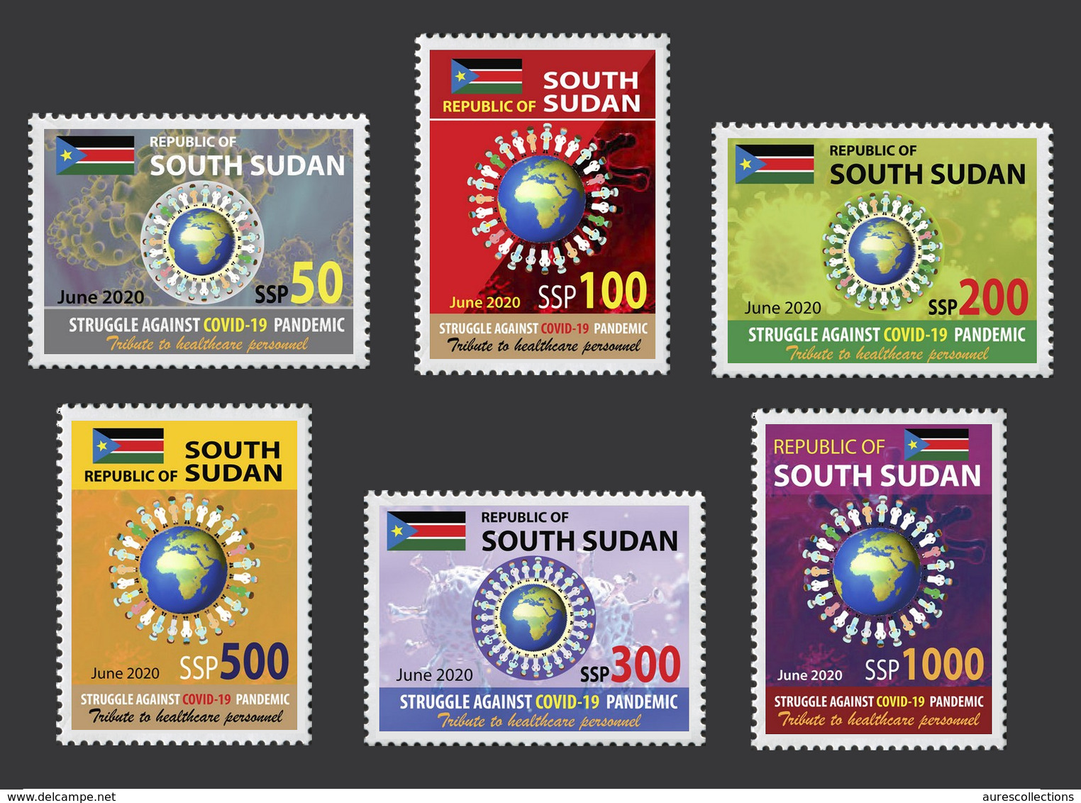 SOUTH SUDAN 2020 - FULL SET - JOINT ISSUE - COVID-19 PANDEMIC PANDEMIE CORONA CORONAVIRUS RARE MNH - Gezamelijke Uitgaven