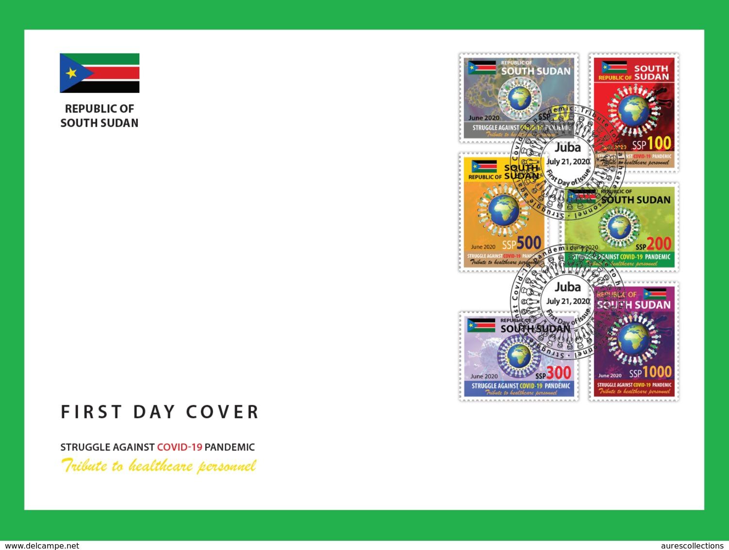 SOUTH SUDAN 2020 - FDC - JOINT ISSUE - COVID-19 PANDEMIC PANDEMIE CORONA CORONAVIRUS - RARE - Gemeinschaftsausgaben