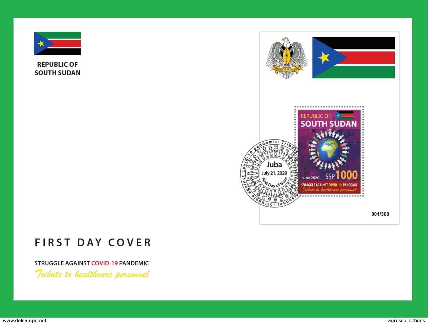 SOUTH SUDAN 2020 - FDC - SOUVENIR SHEET FDC - COVID-19 PANDEMIC PANDEMIE CORONA CORONAVIRUS - RARE - Gemeinschaftsausgaben