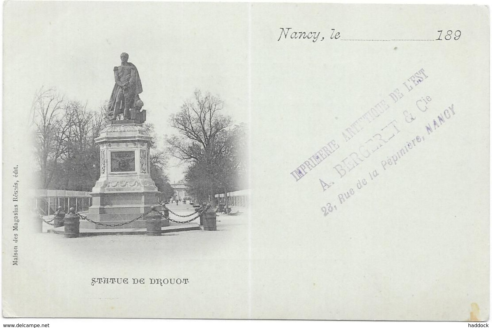 NANCY : STATUE DE DROUOT - Nancy