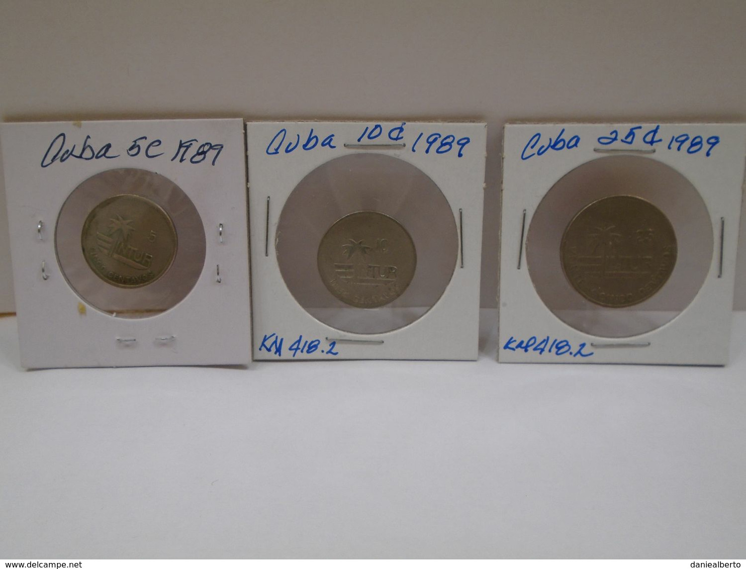 """Cuba, 0.05, 0.10, 0.25 Centavos 1989, """" INTUR """", UNC, MINT. Gracias Por Visitar Mi Pagina. - Cuba"""