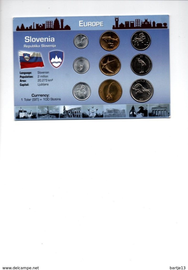 SLOVENIE SET 9 PCS DIFFERENT COINS - YEARS 1992/2006 - Slovenia
