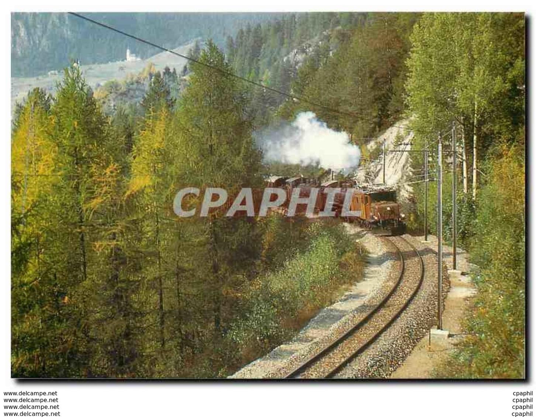 CPM Tram Ge 6 6 1 407 G 4 5 108 107 En Dessus De Filisur - Eisenbahnen