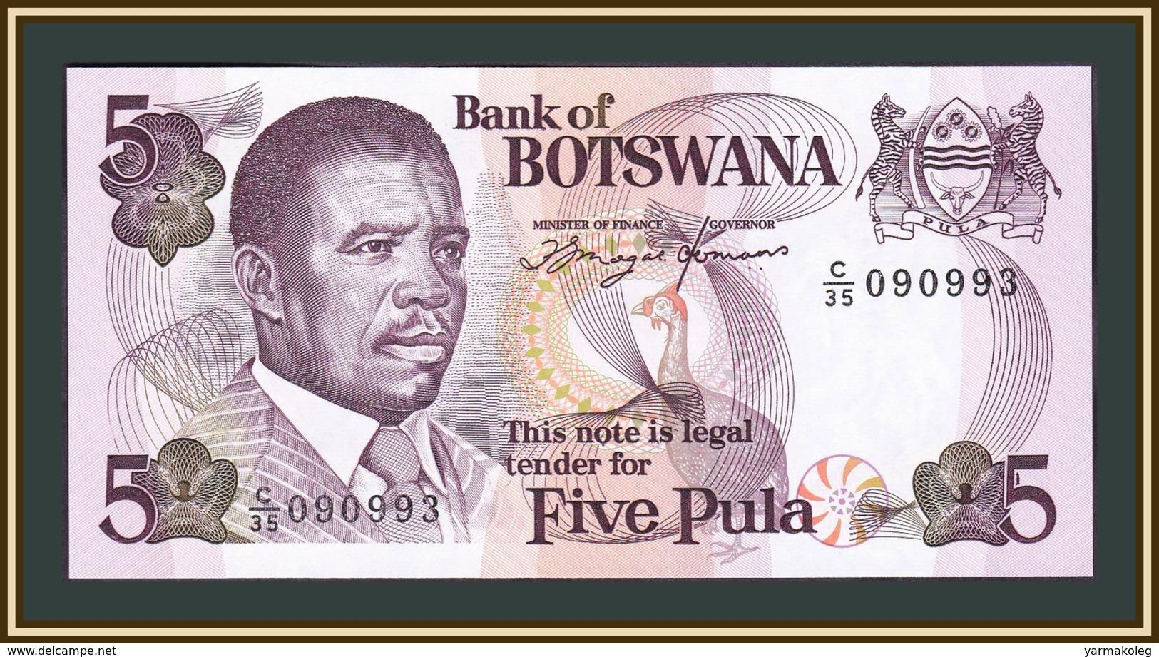 Botswana 5 Pulы 1982 P-8 (8c) UNC - Botswana