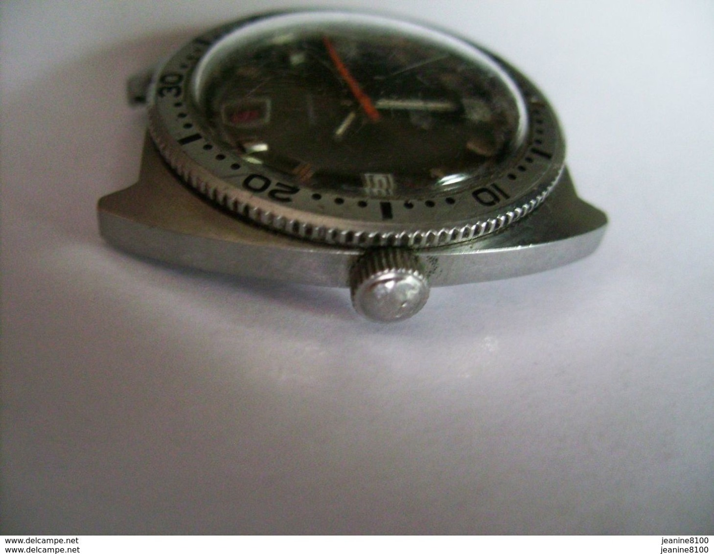 Belle Montre Plongée Roch Automatique Avec Dateur   Mouvement Calibre FE 3611   38 M/m Année  72 - Watches: Old