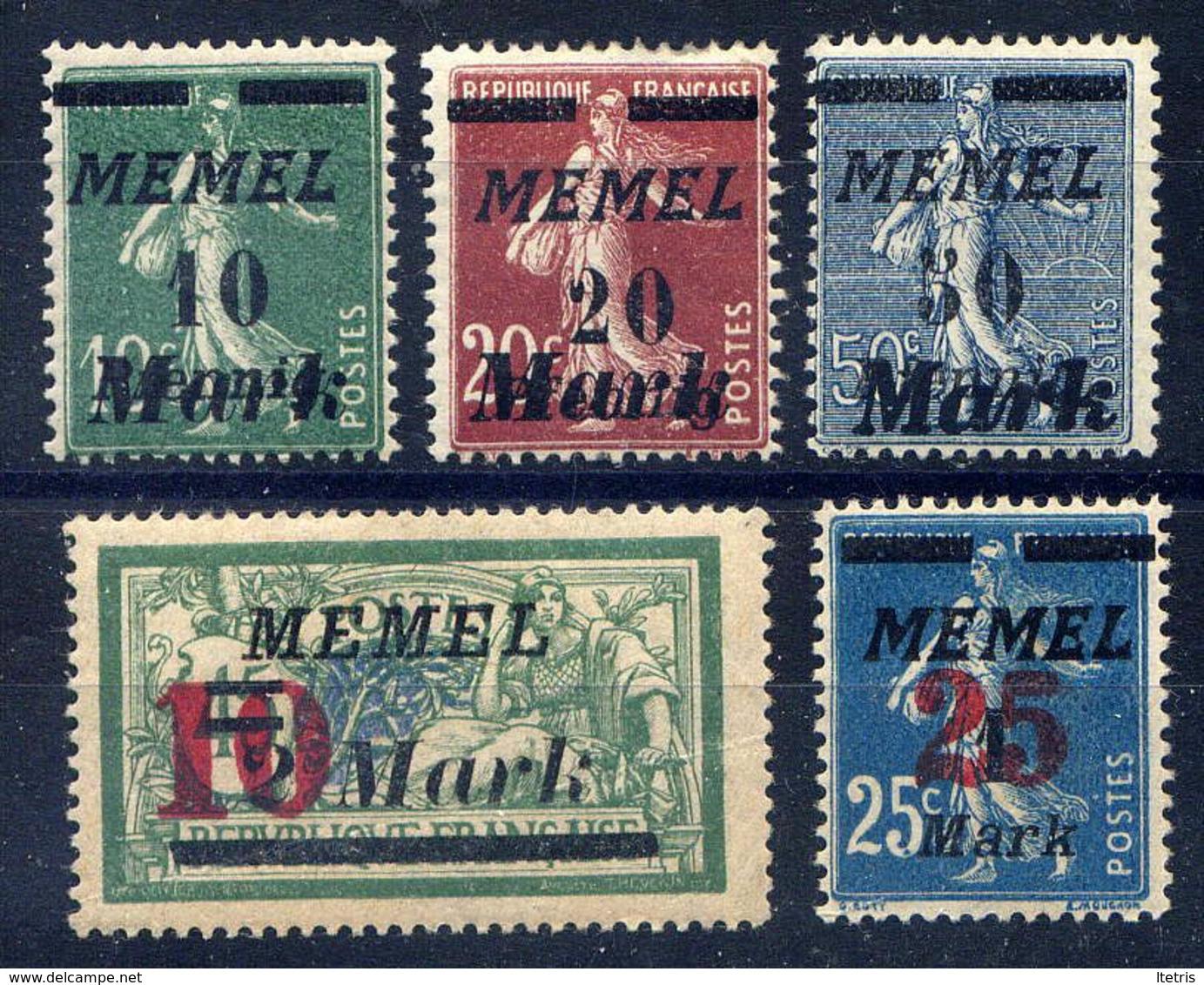 MEMEL  - 79/83* - TIMBRES DE FRANCE SURCHARGES - Neufs