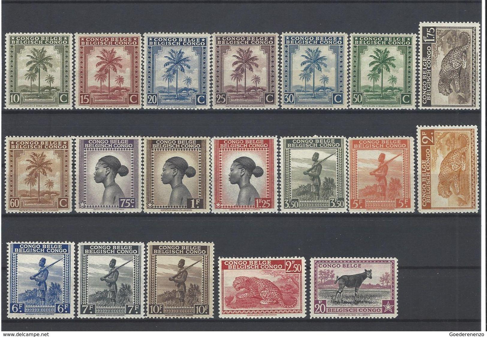 Nr 249-67 ** - Belgian Congo