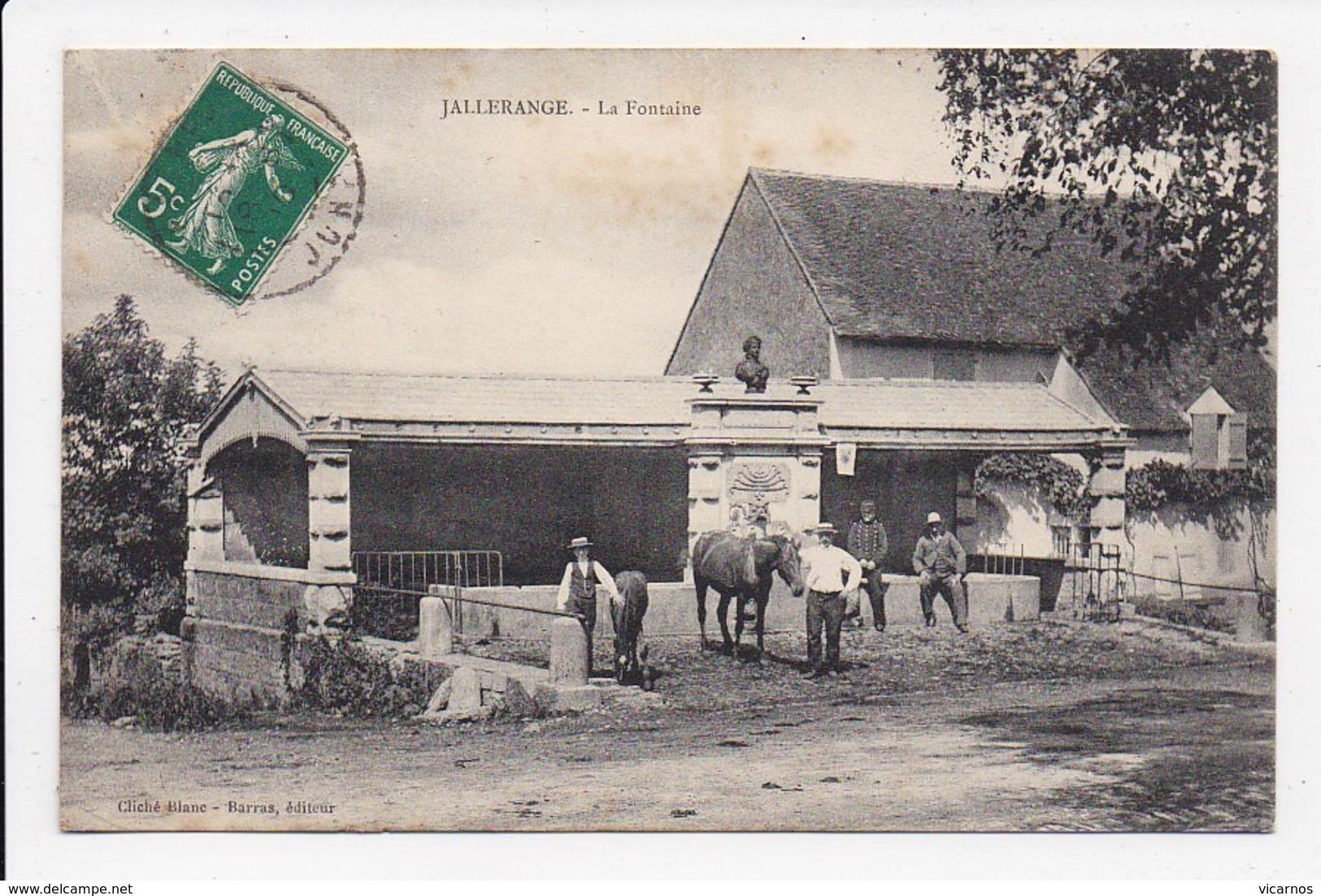 CPA 25 JALLERANGE La Fontaine - Sonstige Gemeinden