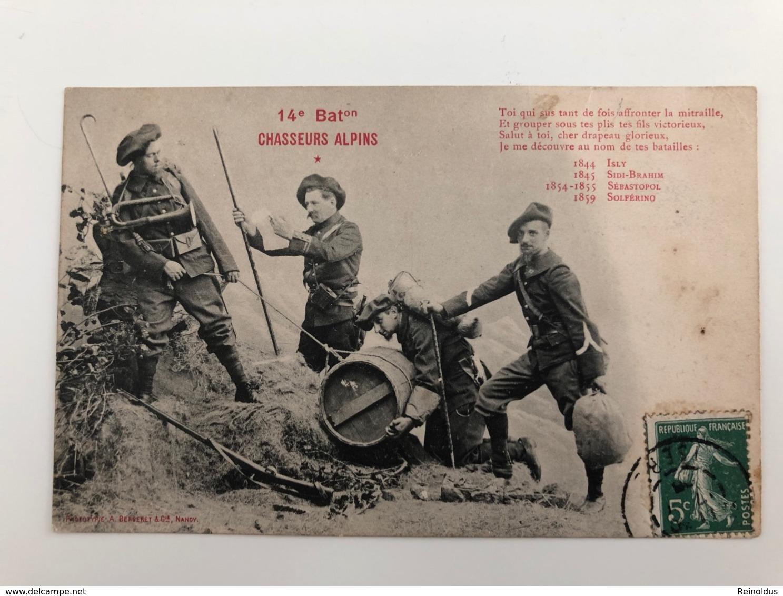 Ak Cp 14e 14 Chasseurs Alpin Bat Batalion - Reggimenti