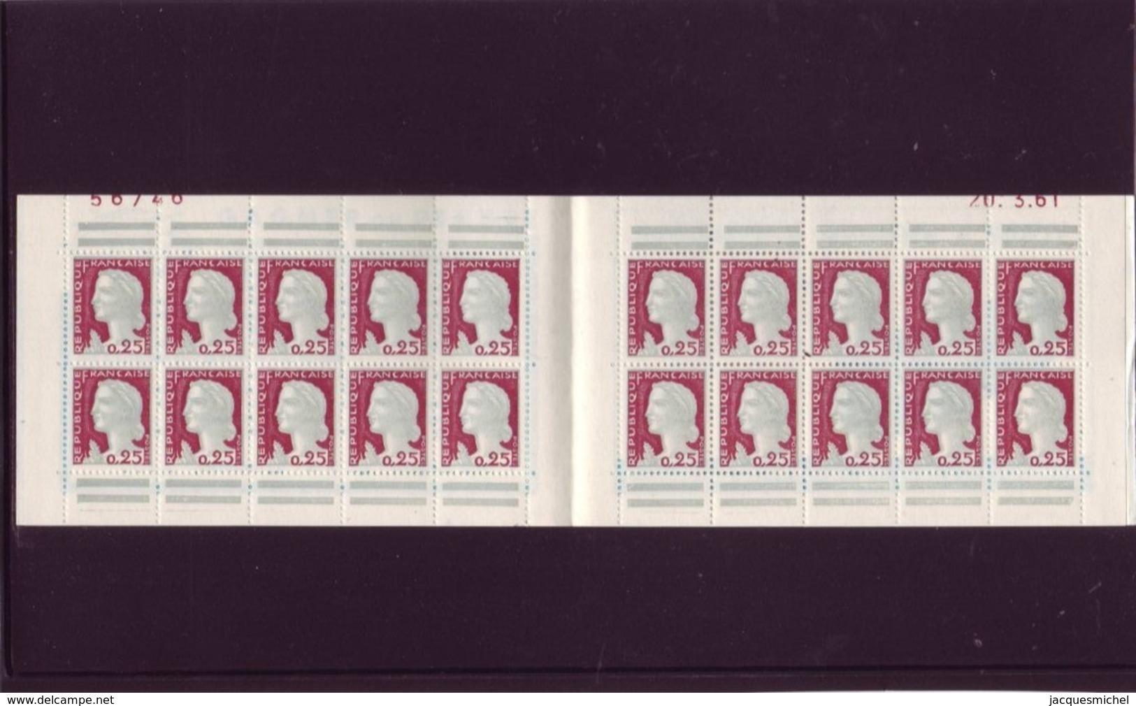 Marianne De DECARIS - Carnet De 20 - S 4-61 - Pub: 3 SUISSES - 20.3.1961 - - Booklets