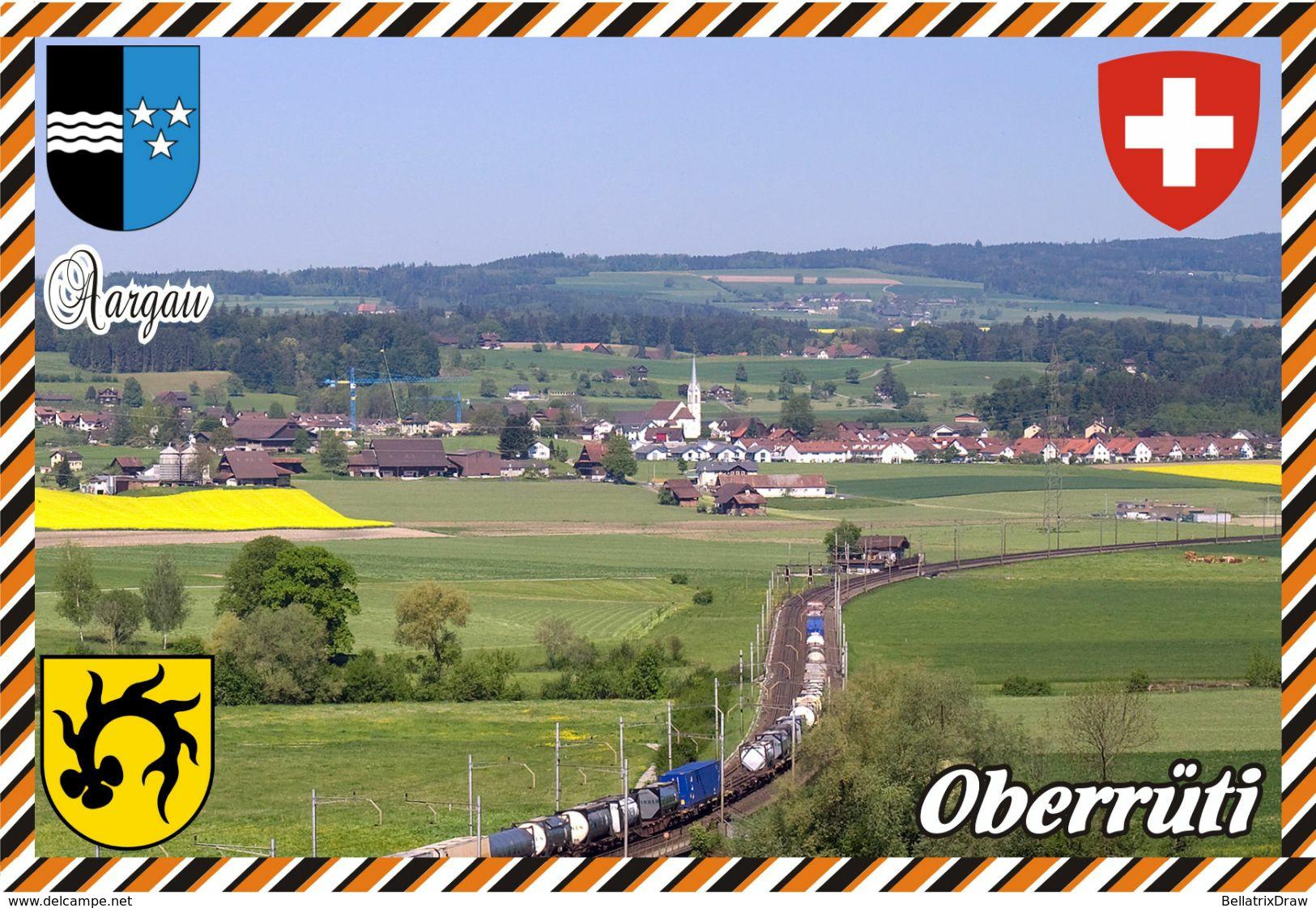 Postcard, REPRODUCTION, Switzerland, Canton Aargau, Oberrüti - Landkaarten