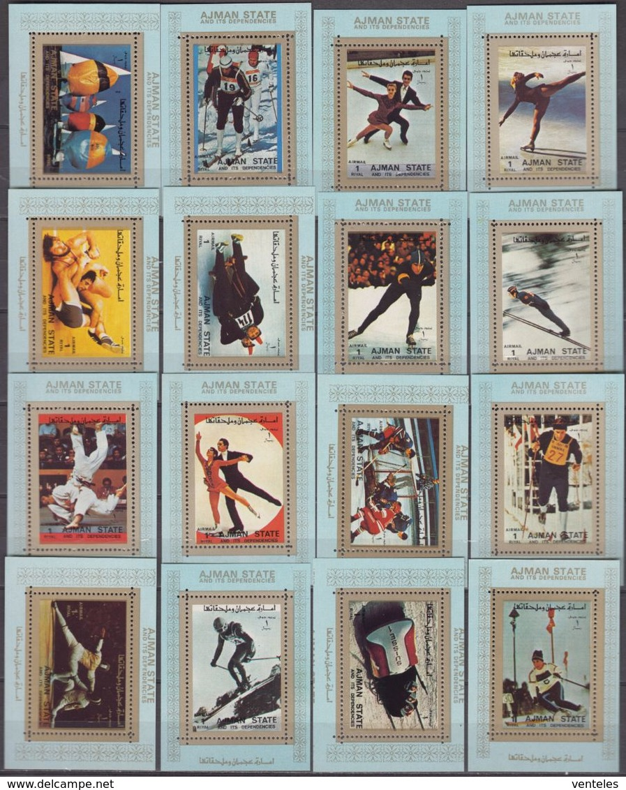Ajman 31.03.1973 BLUE PERF EDL Mi # 2717-32 1972 Munich Summer Olympics MNH OG - Sommer 1972: München