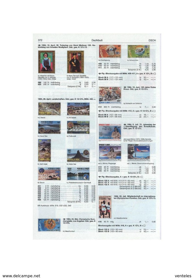 Djibouti 24.05.1984 Mi # 409-11 Bl 981984 Los-Angeles Summer Olympics, MNH OG - Verano 1984: Los Angeles