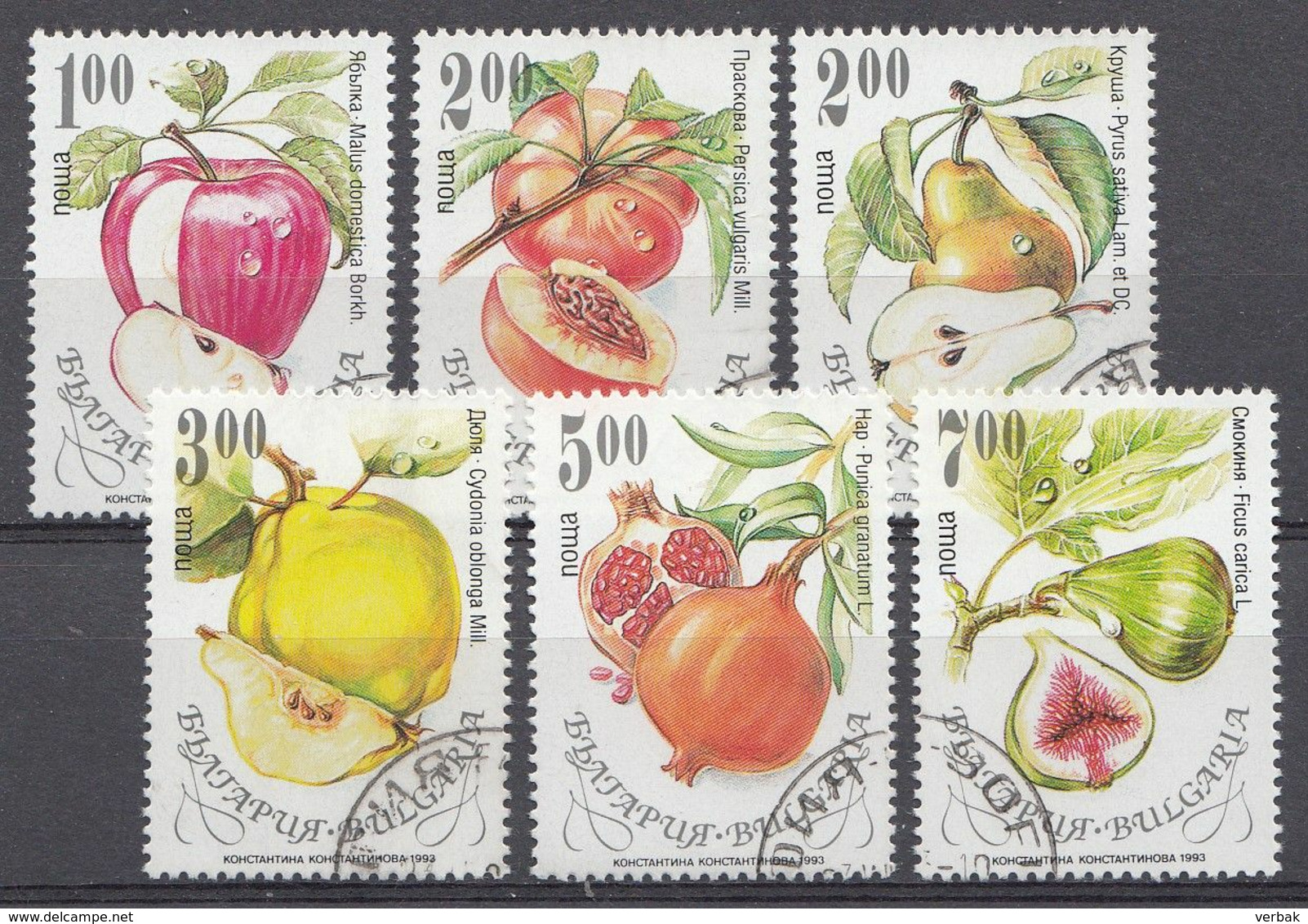 BULGARIE 1993  Mi.nr: 4055-4060 Früchte   Oblitérés - Used - Gebruikt - Usati
