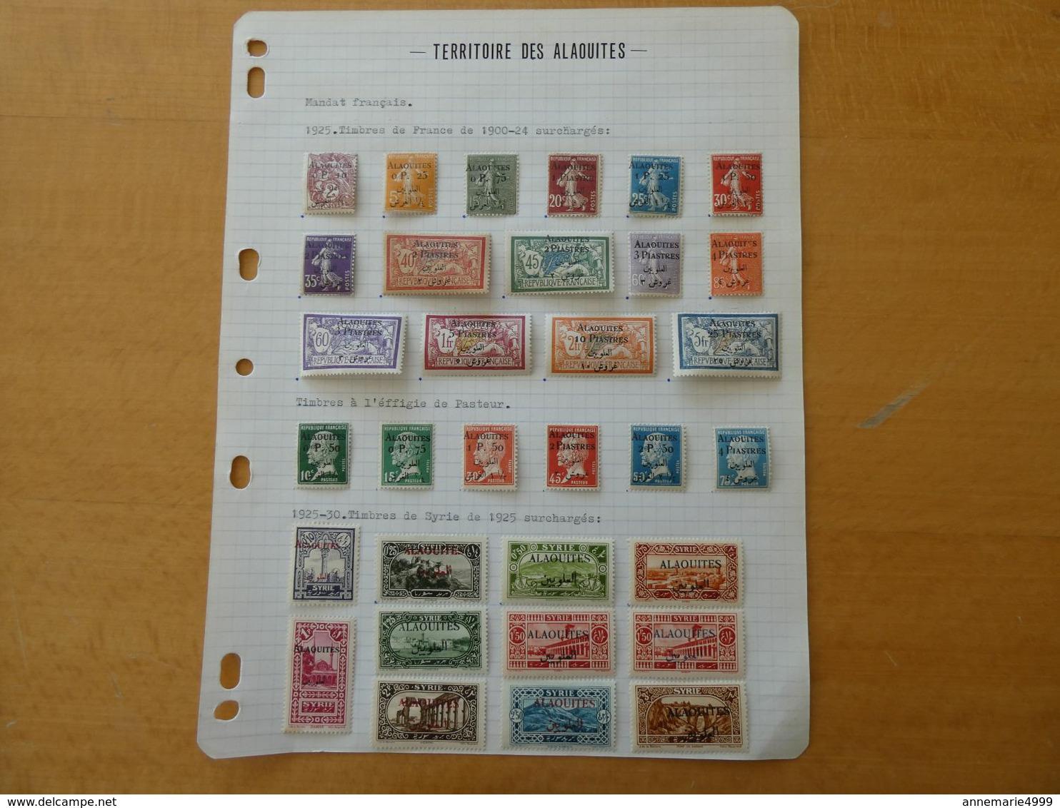 FRANCE   Colonies ALAOUITES Complet, Authentiques Et Très Beaux Cote 506 € Neufs Avec Charnière - Alaouites (1923-1930)