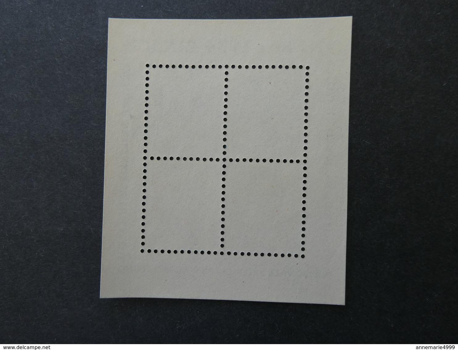 SUISSE Bloc Feuillet N° 1 Naba Zurich 1934  Neuf Sans Charnière MNH Cote 850 € - Blocks & Sheetlets & Panes