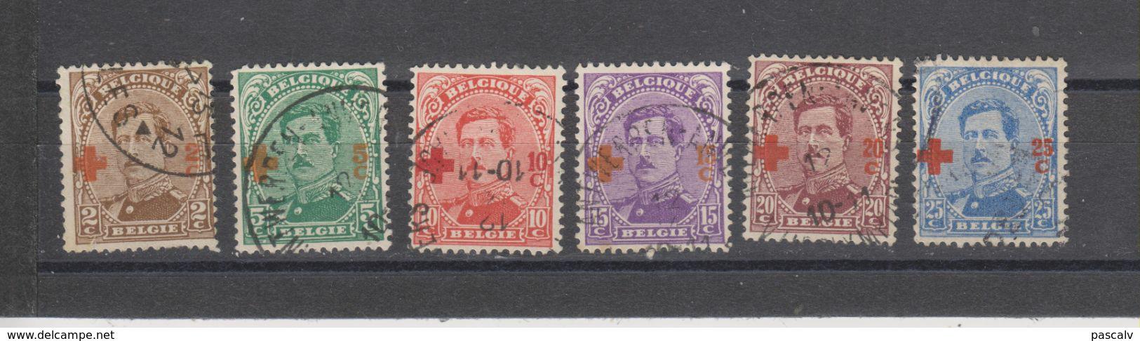 COB 151 / 156 Oblitérés Cote 63€ - 1918 Red Cross