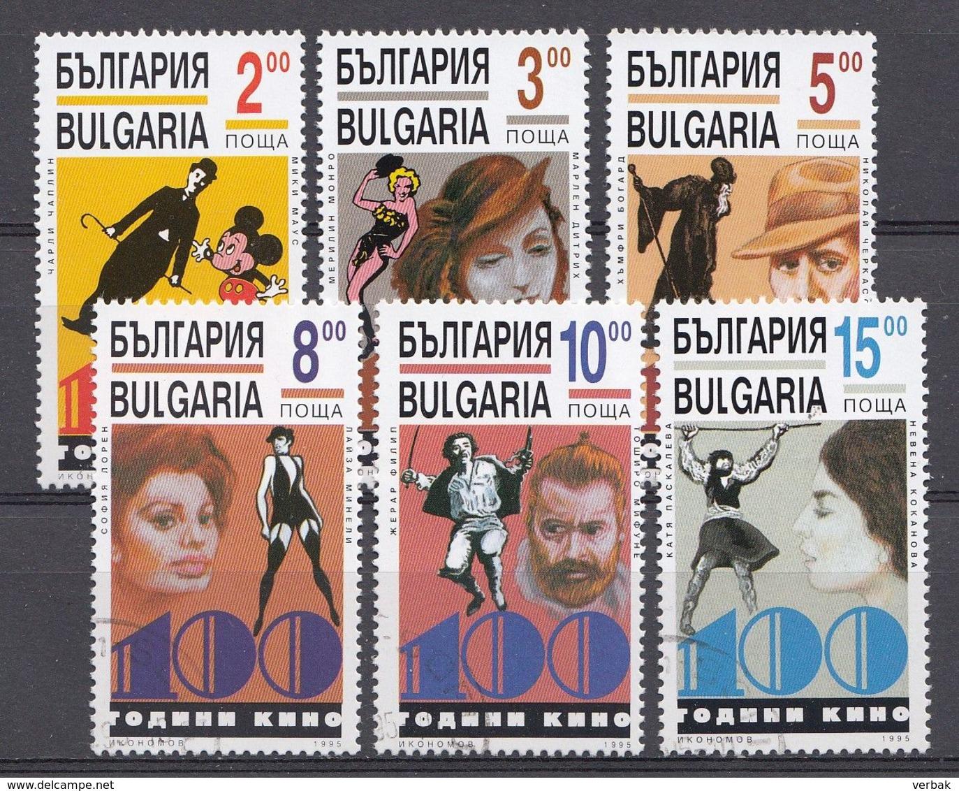 BULGARIEN / BULGARIJE MI.NR.4184-4189  Cino Film  USED / GEBRUIKT / OBLITERE 1995 - Usati