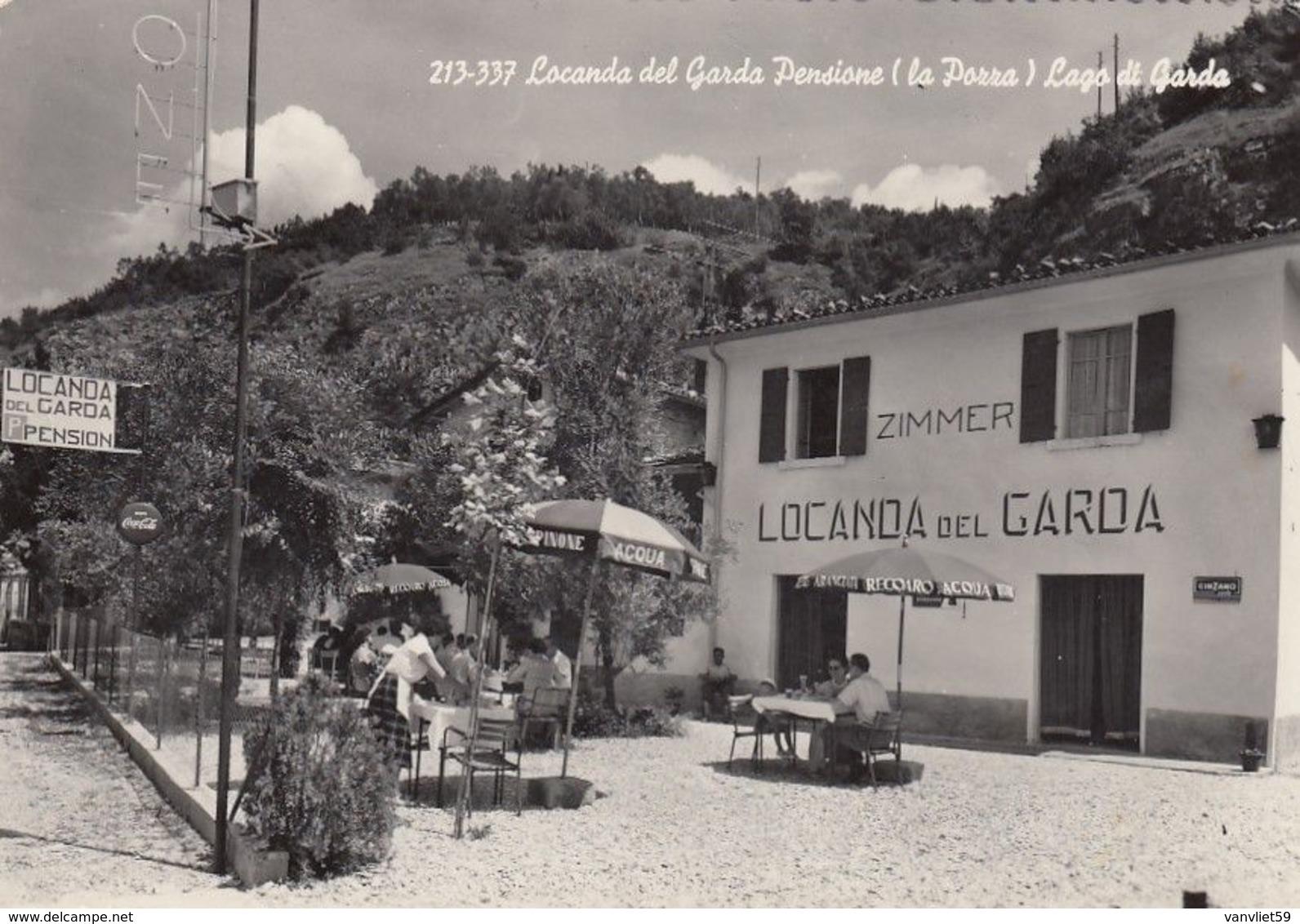 TORRI DEL BENACO-POZZA-VERONA-LAGO DI GARDA-PENSIONE LOCANDA DEL GARDA-CARTOLINA-VERA FOTO NON  VIAGGIATA ANNO 1950-1958 - Verona