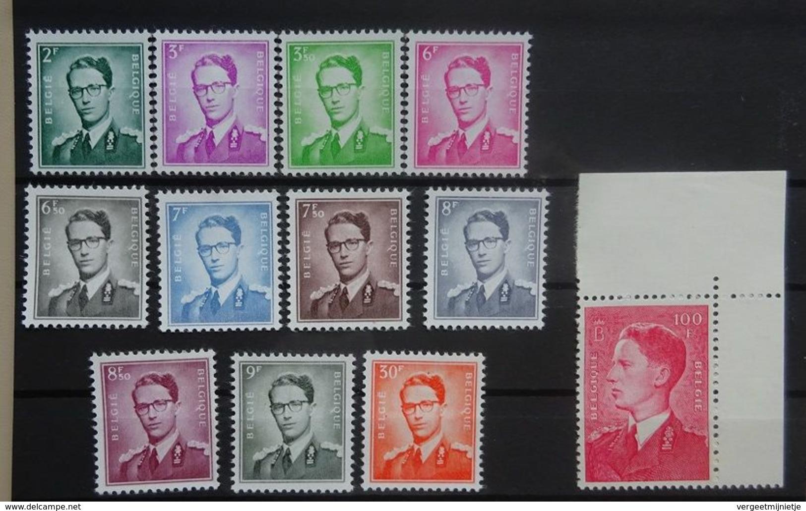 BELGIE 1958   Boudewijn Met Bril   Nr. 1066 - 1075   Postfris **    CW 365,00 - 1953-1972 Glasses