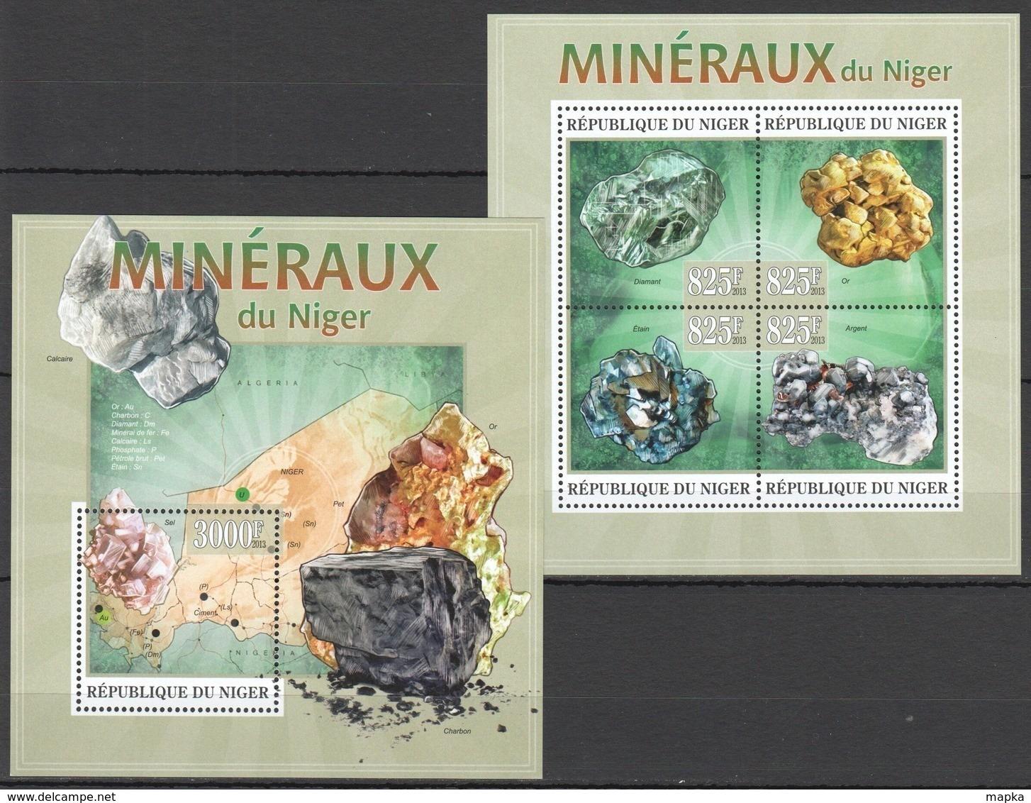 ST2794 2013 NIGER NATURE GEOLOGY MINERALS MINERAUX NIGER KB+BL MNH - Altri