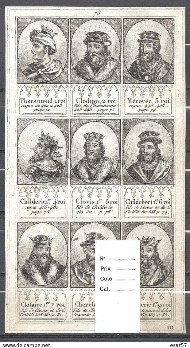 Superbe Et Rare Ensemble De 72 Portraits De Rois De France Extraits D'un Ouvrage Du Milieu Du XIX ème. - Old Paper