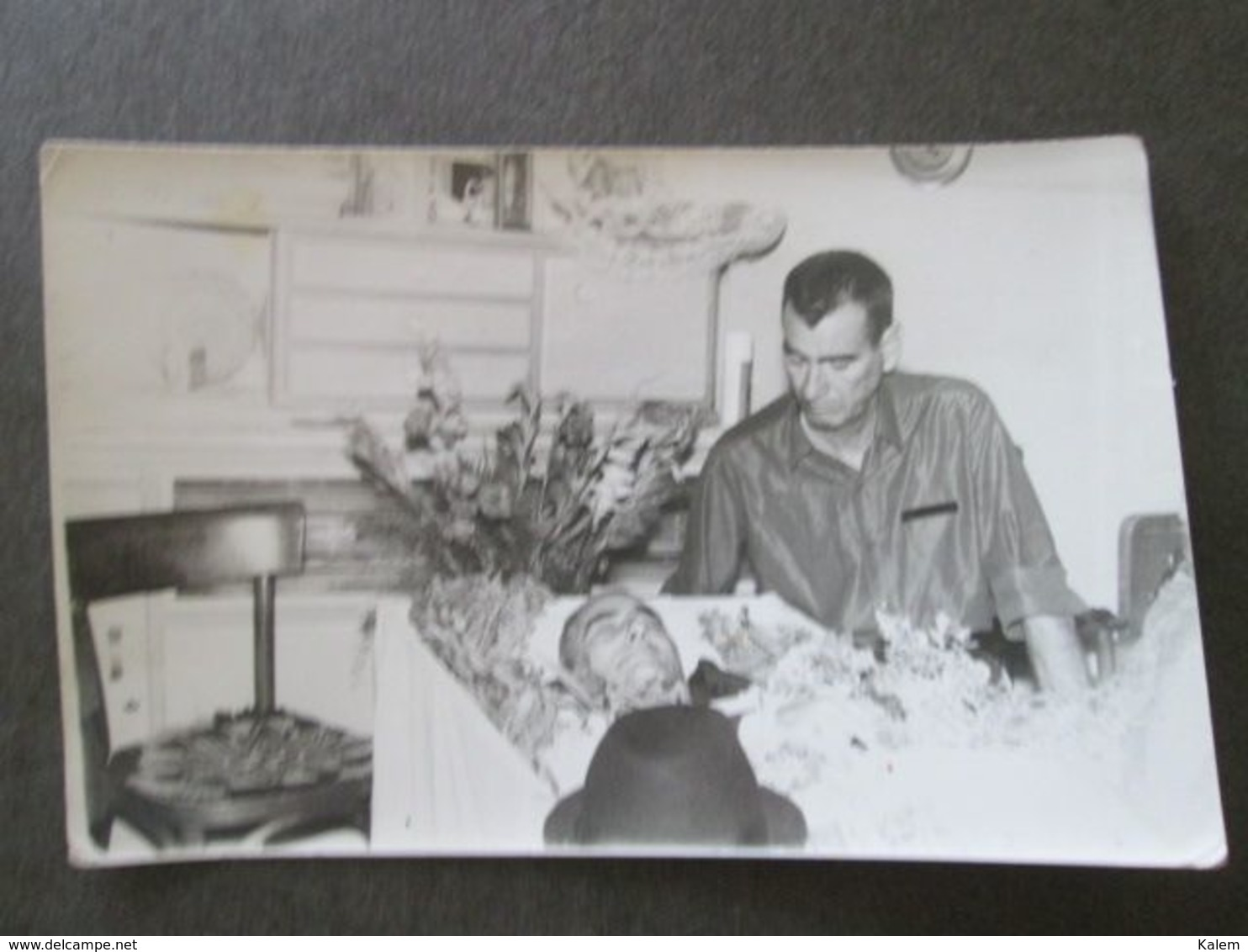 POST-MORTEM MAN, HOMME POST-MORTEM, ORIGINAL PHOTO - Personnes Anonymes