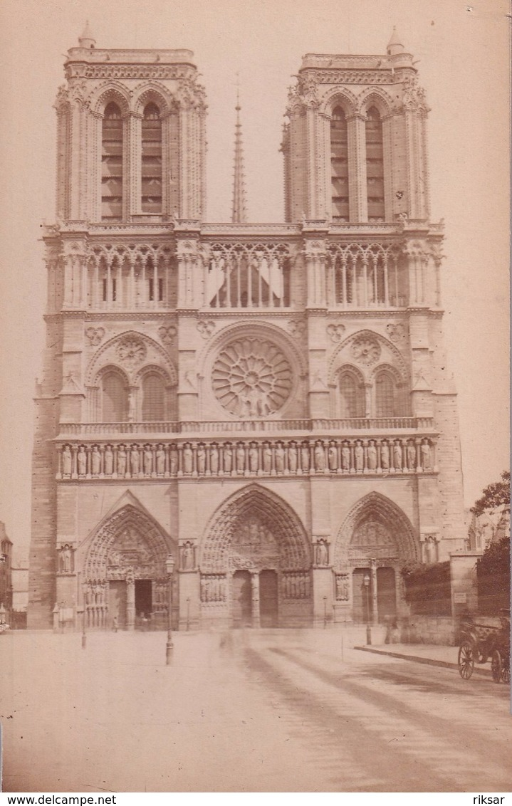 PHOTO CARTONNEE(PARIS) NOTRE DAME - Places